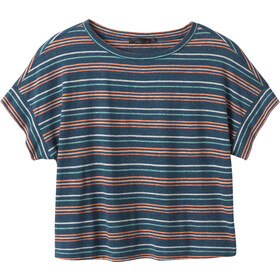 Prana Vosky SS Tee Women atlantic stripe